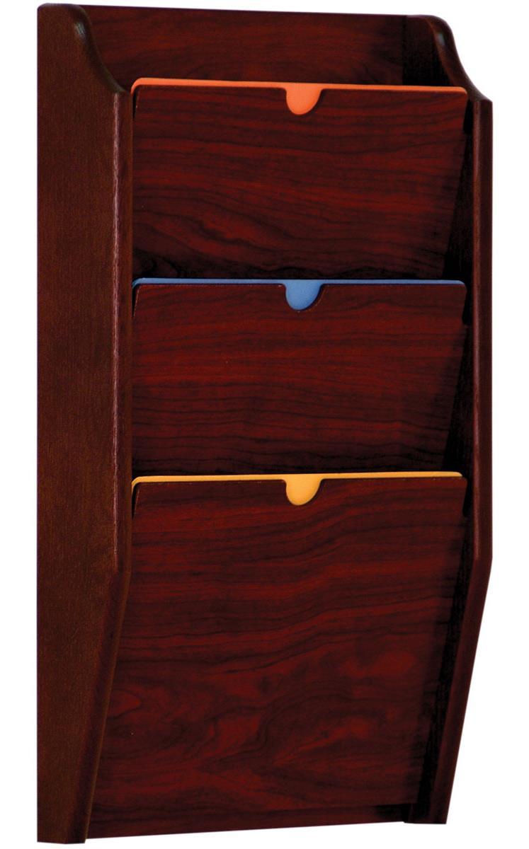 Uncategorized Wooden File Holders hipaa wall file holder 3 pocket wooden rack
