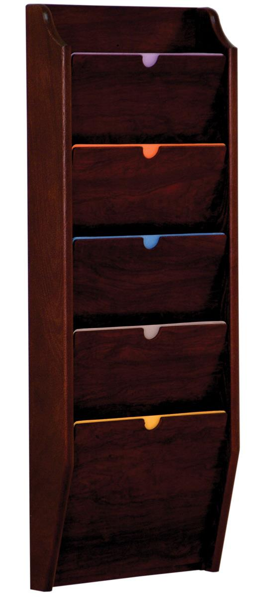 Wood Privacy Chart Holder Tiered File Folder Rack For Wall