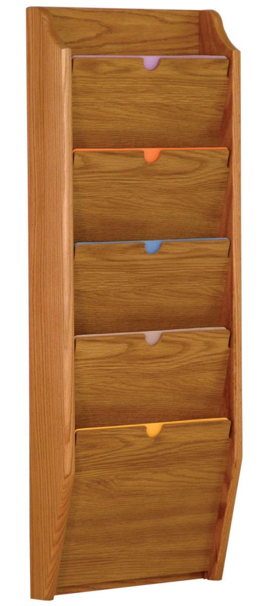 Wood Privacy Chart Holder 5 Tiered File Folder Rack