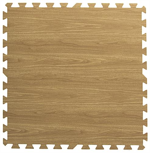 Light & Dark Wood Interlocking Floor Mats with Mix & Match Tiles