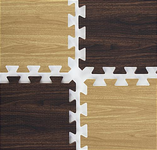 Light & Dark Wood Interlocking Floor Mats - 10' x 10'