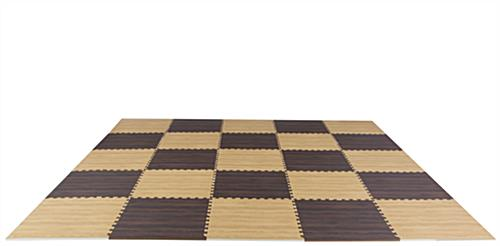 Light & Dark Wood Interlocking Floor Mats, Two Colors