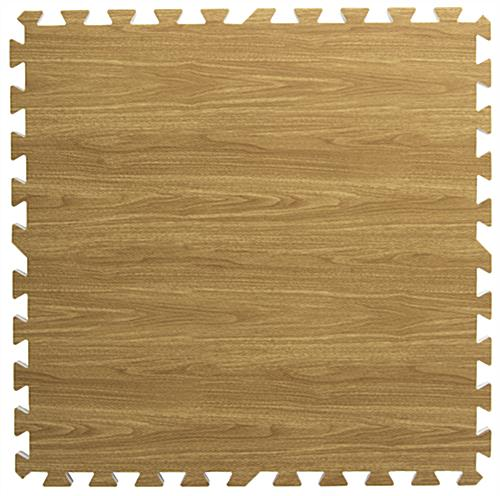 Light Oak Interlocking Wood Floor Mats for Trade Shows