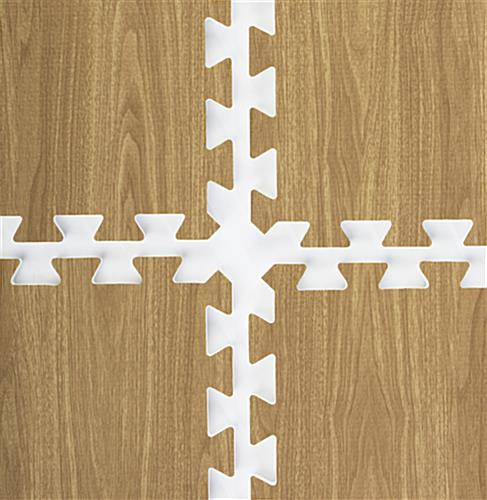 Light Oak Interlocking Wood Floor Mats