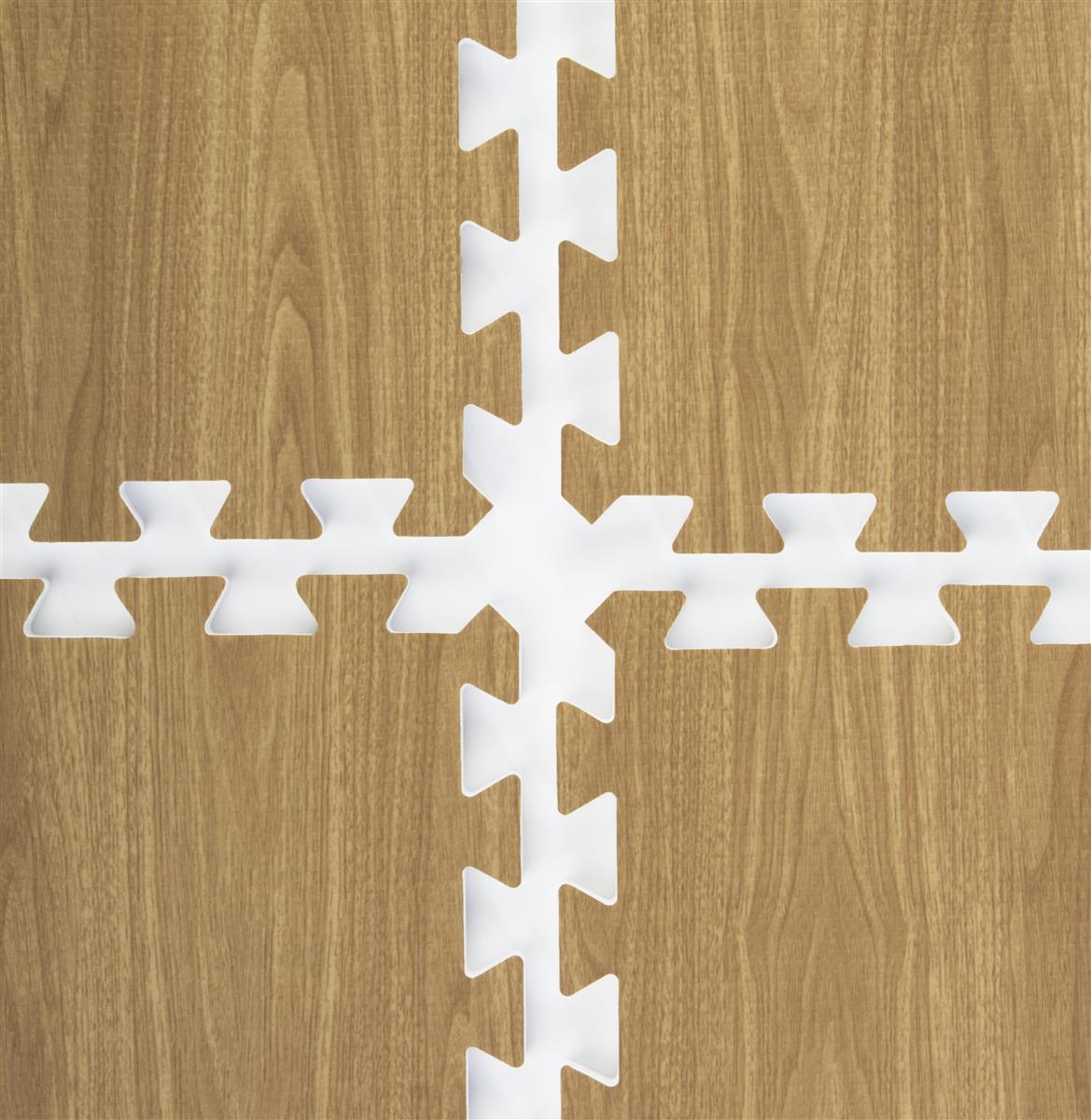 Light Oak Interlocking Wood Floor Mats 10 X 10 Exhibit Floor