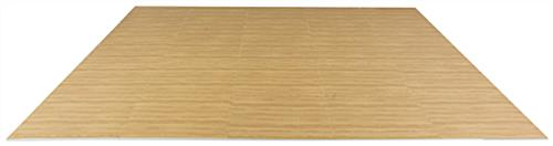Light Oak Interlocking Wood Floor Mats, 10' x 10'