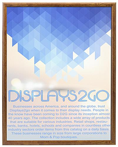 22 x 28 Poster Frame for Wall, Snap Open, 25mm Profile u2013 Faux Wood