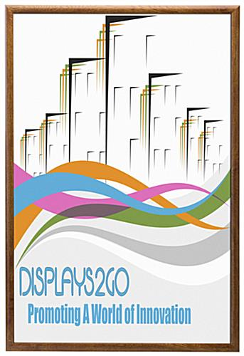 "24"" x 36"" Wooden Snap-Open Frame with Front Loading Design"