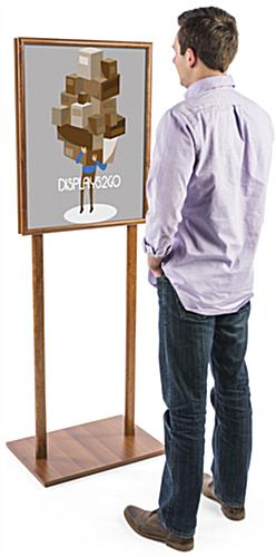 "22"" x 28"" Wooden Poster Stand with Wood Grain Finish"