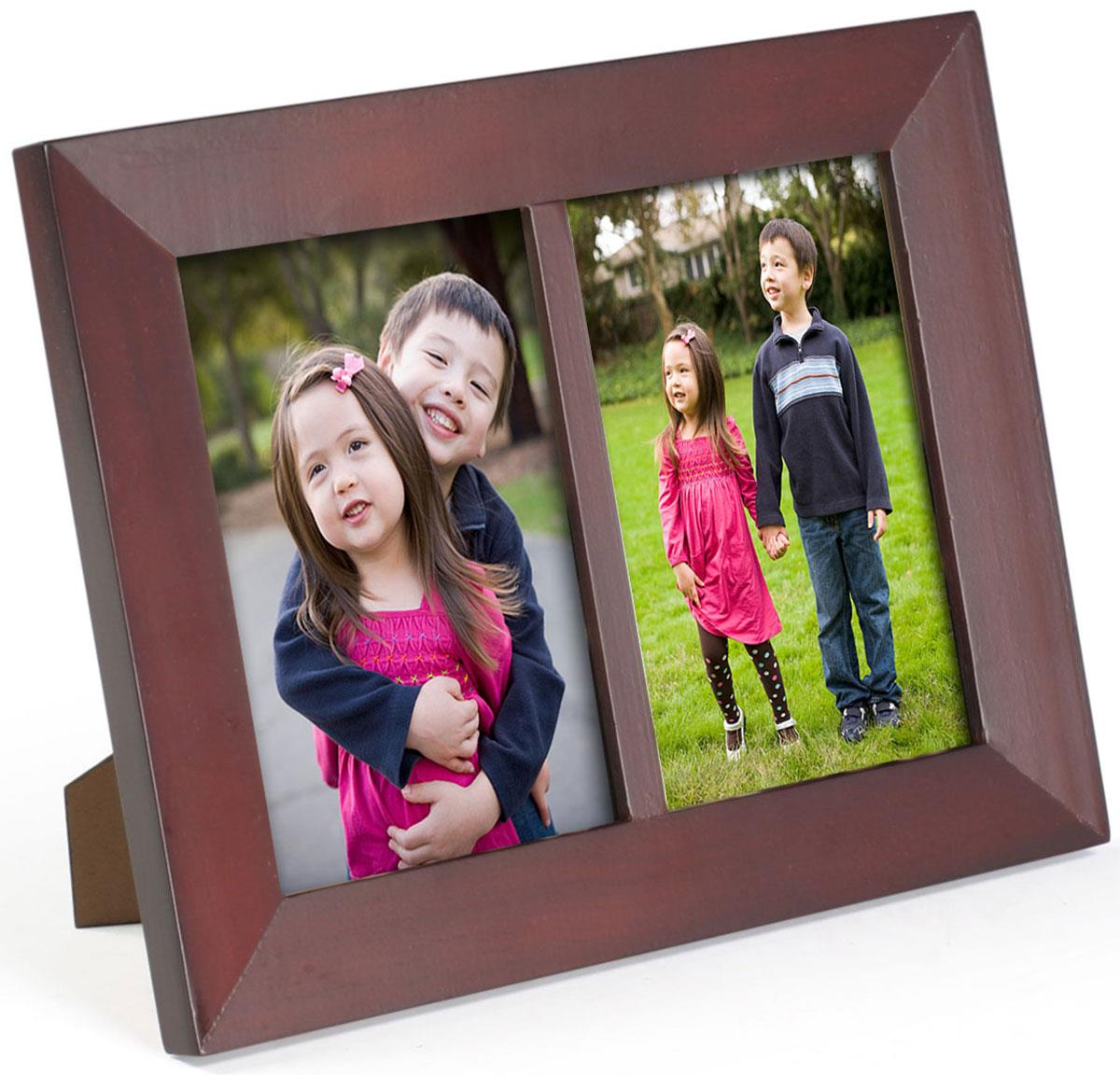 Collage Frames Mahogany Tabletop Multi Photo Display