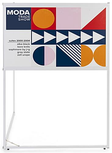 72 inch wide multi direction corner signage