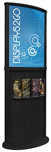 Black Wooden Poster Display Stand, Double Sided