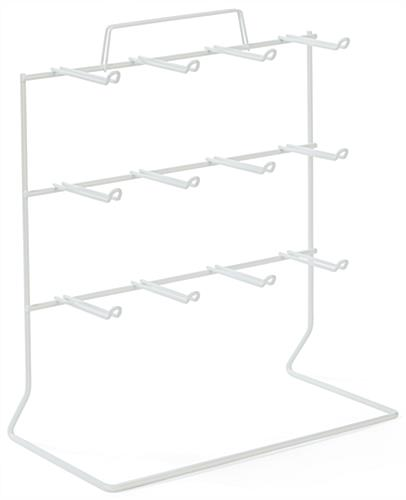 Counter Rack w/ Sign Holder, 3 Tiers, (12) 3