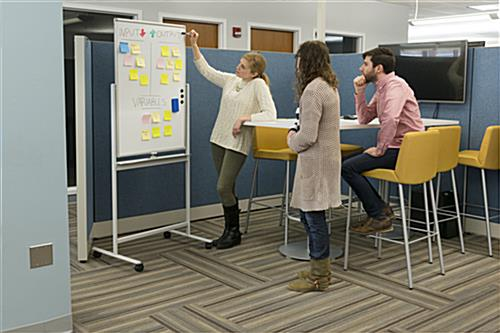 Dry erase whiteboard in planning session