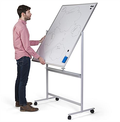Dual-sided magnetic whiteboard