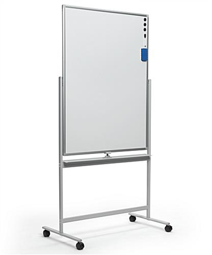 Portrait-oriented magnetic whiteboard
