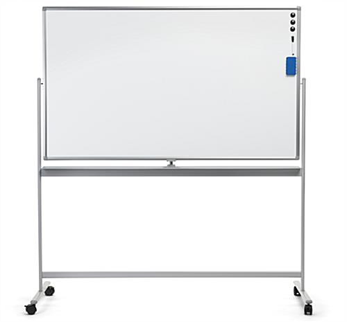 Large whiteboard on wheels