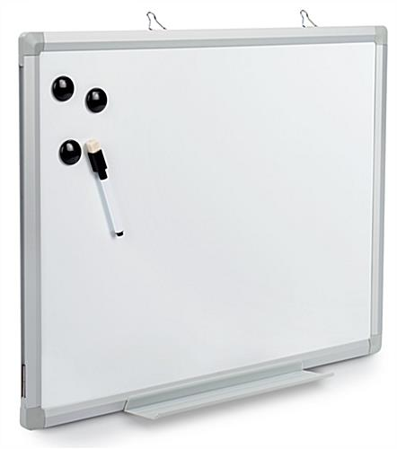 Wall mounted white board with magnetic marker