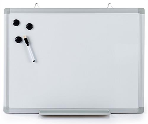 Magnetic wall mounted white board with magnets