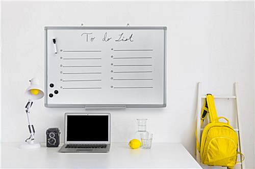 Project management whiteboard for personal organization