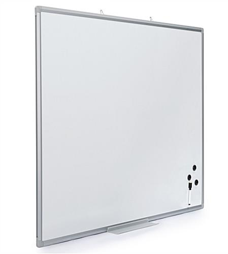 Easy mounting magnetic dry erase board 36 x 48
