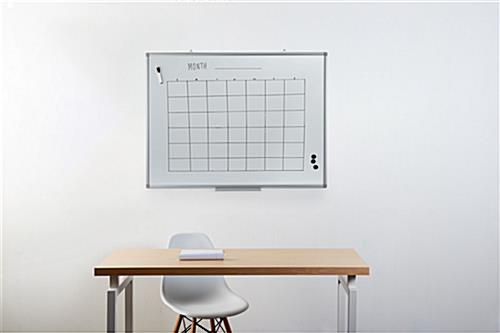 Medium size magnetic dry erase board 36 x 48 in office