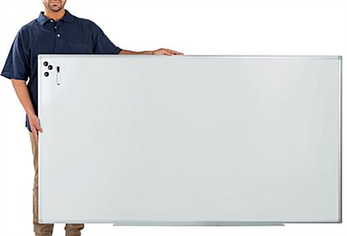 Extra large whiteboard with fast set up