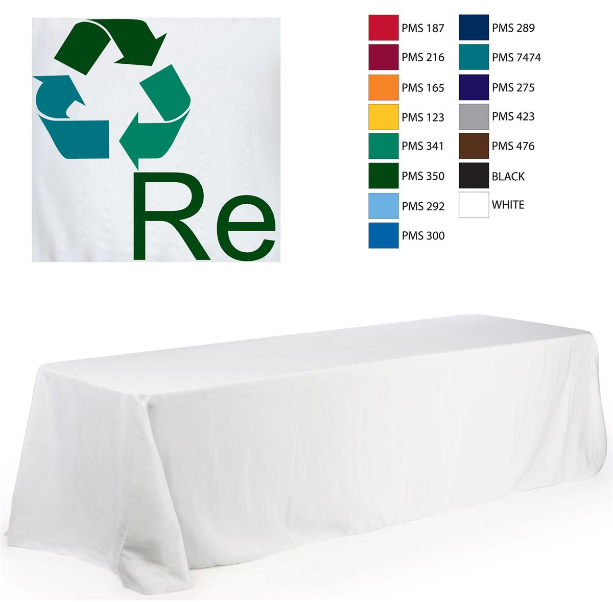 8 Promotional Tablecloth With 3 Color Logo