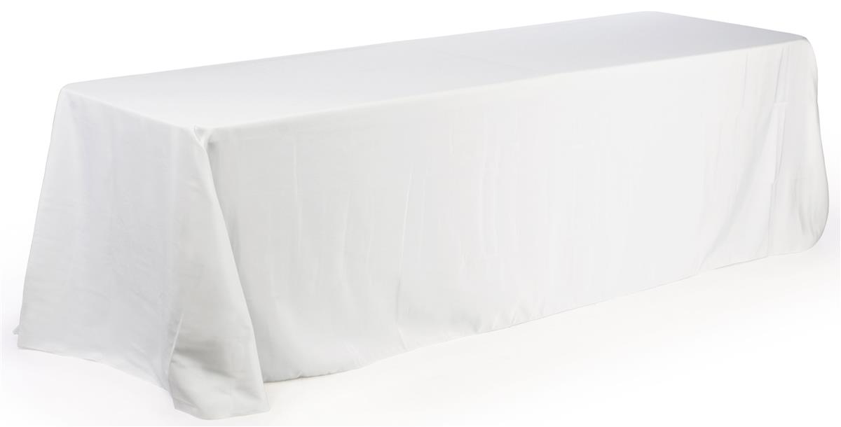 Tradeshow Table Covers White Fabric For 6 Foot Tables