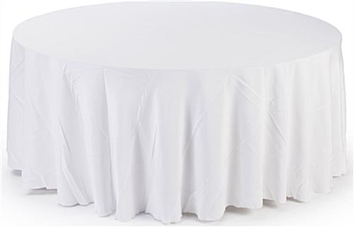 Circular Table Cloth In White For Any Setting