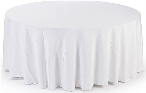 Circular Table Cloth 10 Ft Diameter White Cover