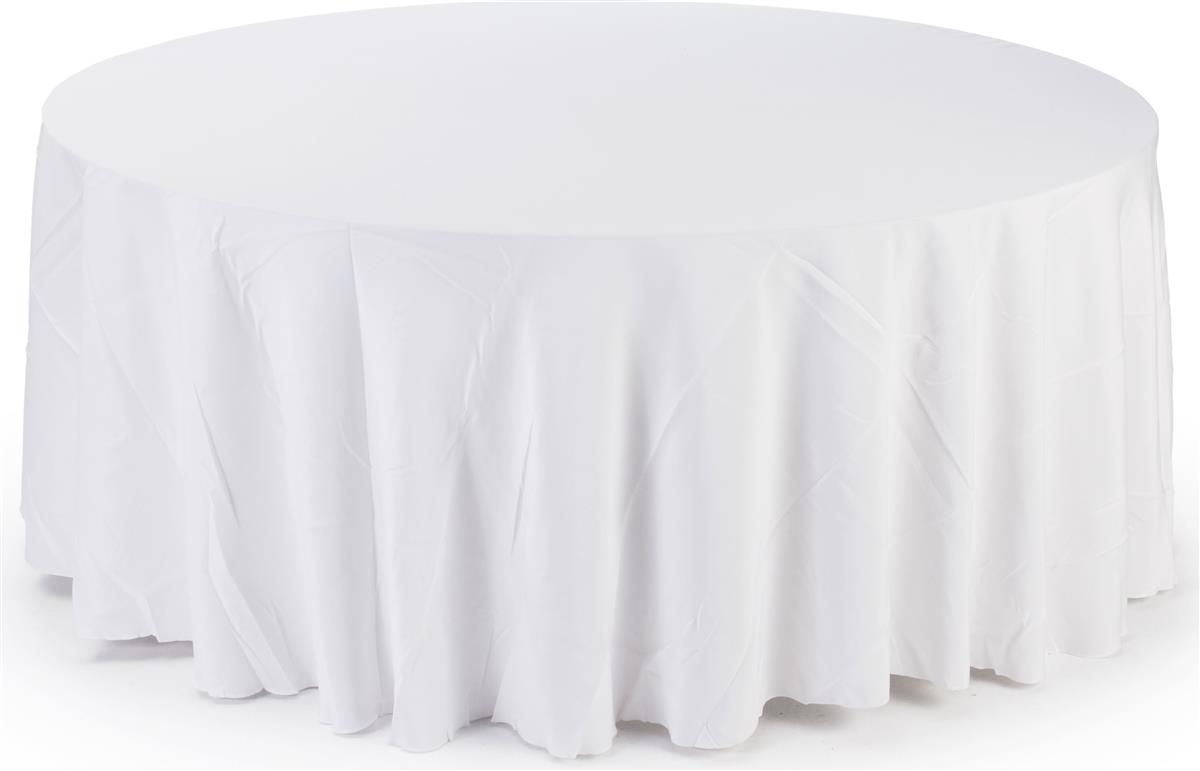 Table Skirts & Round 5\u0027 Table Cloth - White