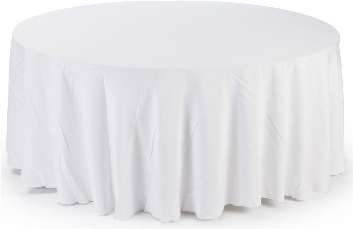 White Round Tablecloths 11 Foot Diameter