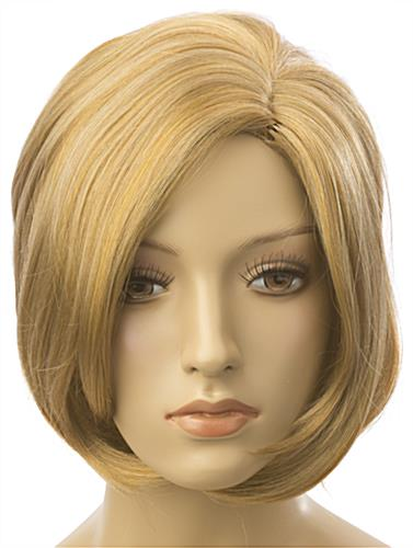Female Blonde Mannequin Wig with Bob Cut
