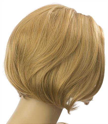 Female Blonde Mannequin Wig is Non-Flammable