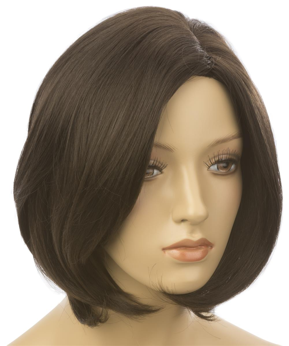 Female Mannequin Wig With Short Hair Dark Brown Color