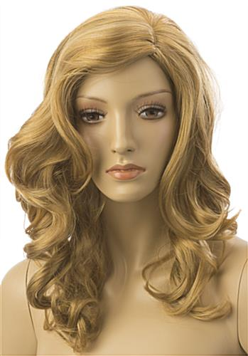 Long Haired Female Blonde Wig with Stylish Cut