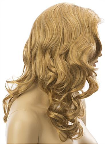 Long Haired Female Blonde Wig is Non-Flammable