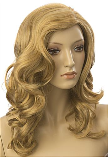 Long Haired Female Blonde Wig is Curly