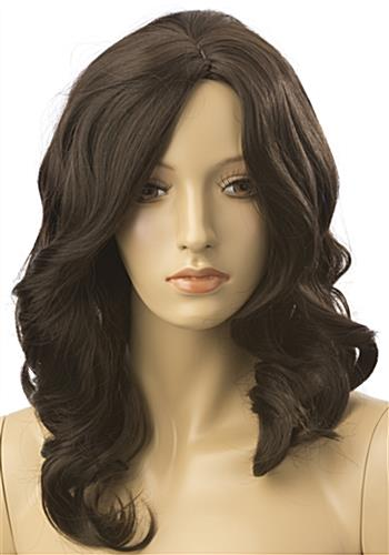 Long Haired Female Brown Wig is Great for Mannequins
