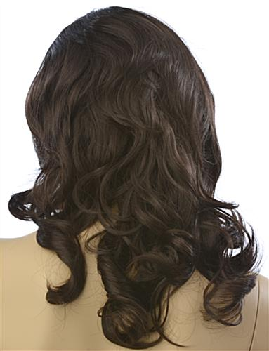 Long Haired Female Brown Wig is Non-Flammable