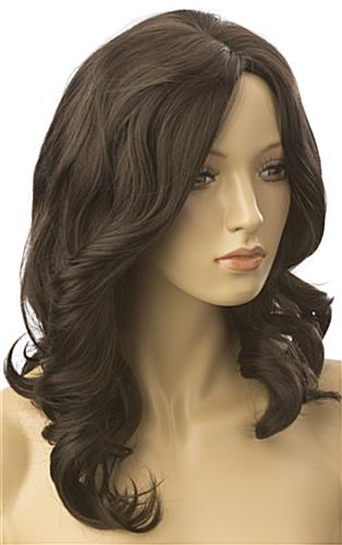 Long Haired Female Brown Wig is Wavy
