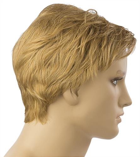 Male Blonde Mannequin Wig is Non-Flammable