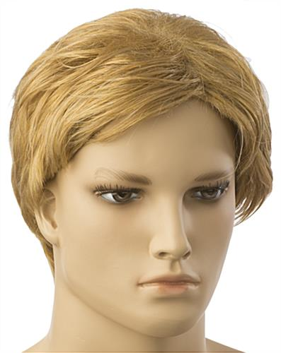 Male Blonde Mannequin Wig with a College Cut