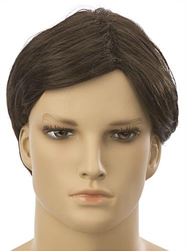 Male Mannequin Wig with College Cut
