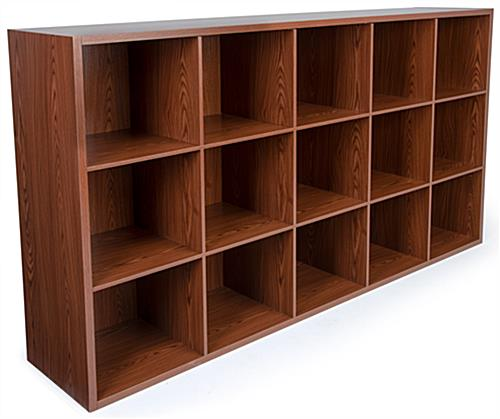 MDF wood cube commercial display organizer shelving