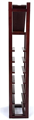 Wooden 1 column wine rack