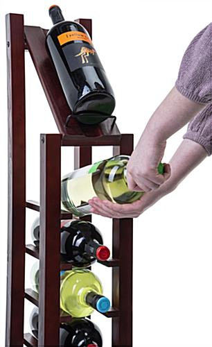 Beautiful 1 column wine rack