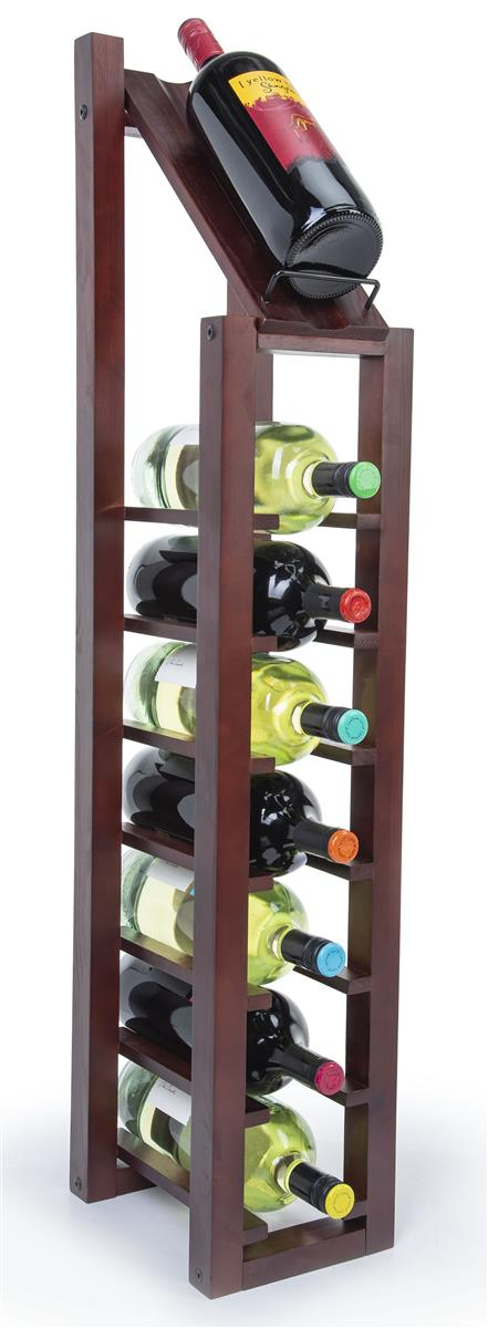 1 Column Wine Rack 8 Bottle Stand With Display Top