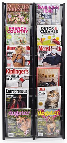 21.3 inch x 48.0 inch hanging magazine holder with clear view of reading materials